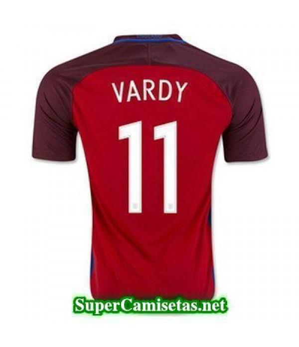 Segunda Equipacion Camiseta Inglaterra VARDY Eurocopa 2016
