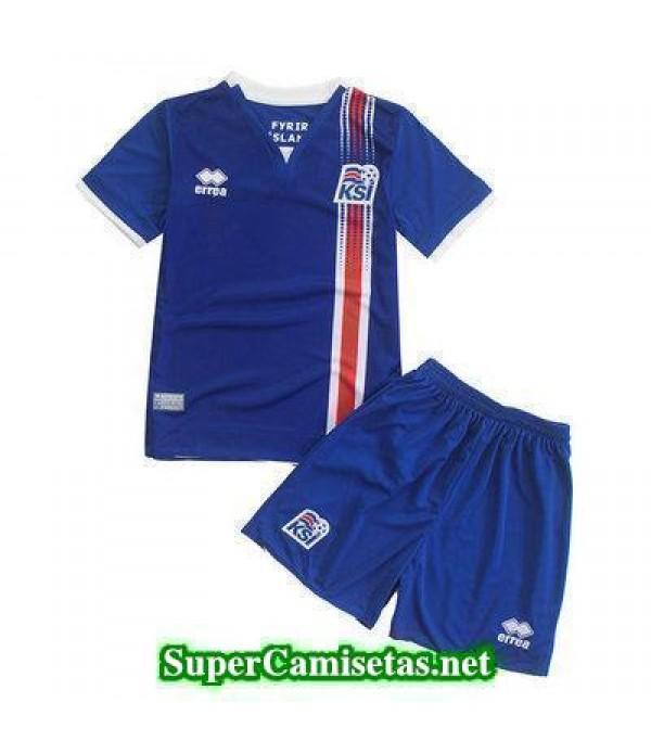 Primera Equipacion Camiseta Islandia Ninos Eurocopa 2016