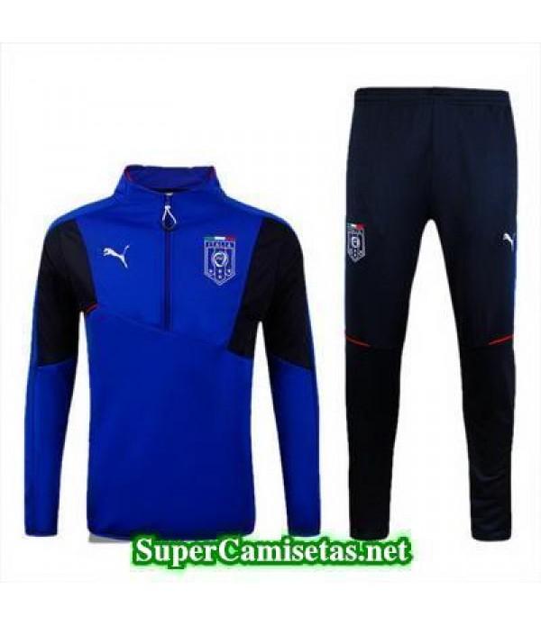 camiseta entrenamiento Italia ML Azul 2016