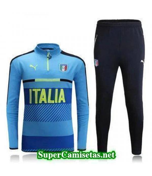 camiseta entrenamiento Italia ML azul claro 2016