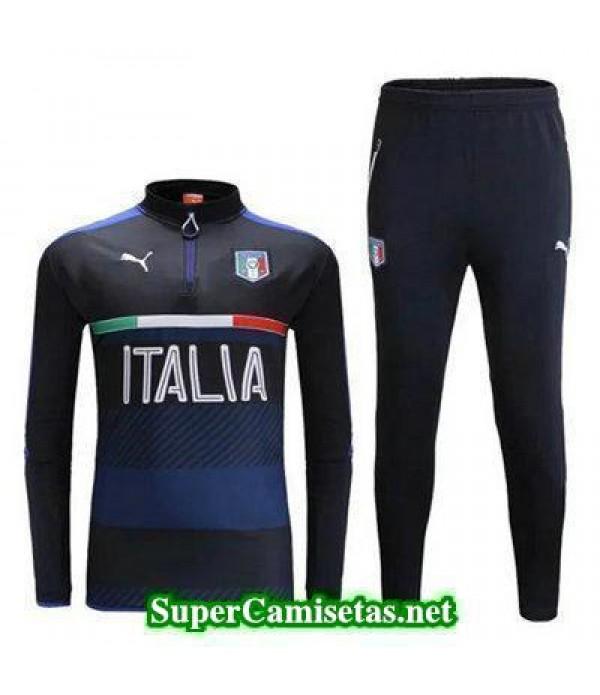 camiseta entrenamiento Italia ML azul marino 2016