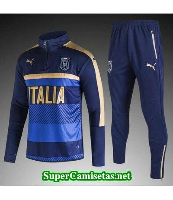 camiseta entrenamiento Italia ML azul marino 2017/18