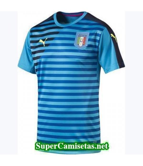 camiseta pre-partido Italia azul 2016 2017