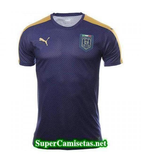 camiseta pre-partido Italia Azul oscuro 2016 2017