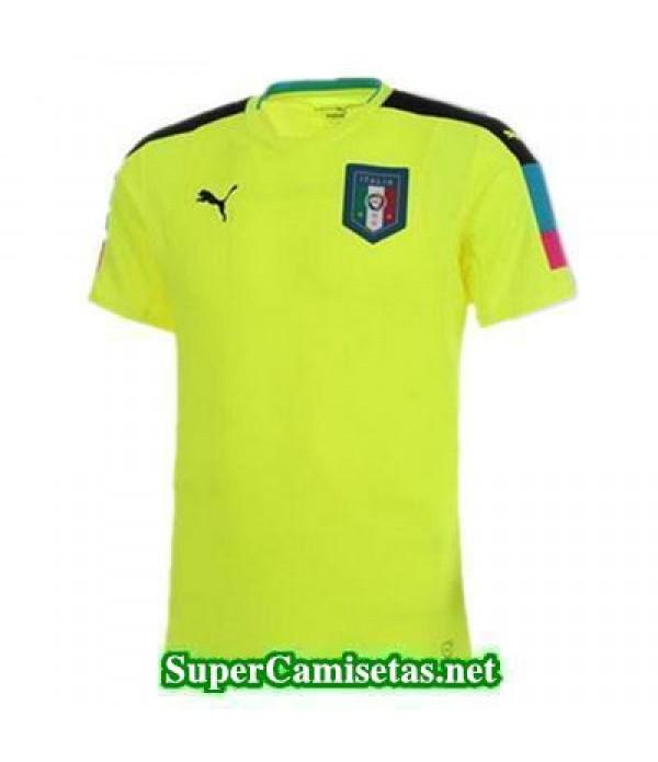 Portero Equipacion Camiseta Italia Amarillo Eurocopa 2016