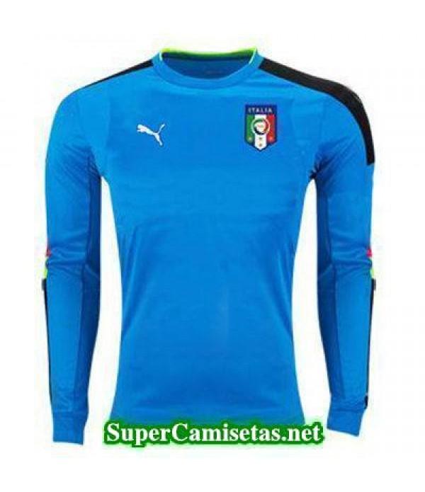 Portero Equipacion Camiseta Italia ML Azul 2016 2017
