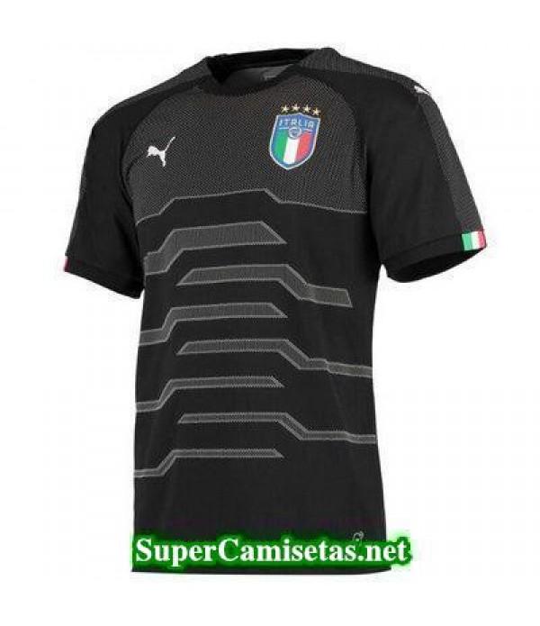 Portero Equipacion Camiseta Italia Negro Copa Mundial 2018