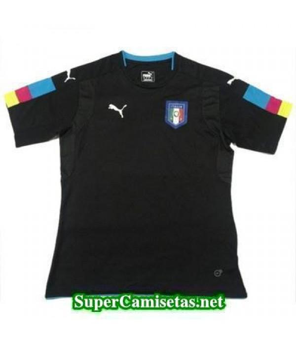 Portero Equipacion Camiseta Italia Negro Eurocopa 2016