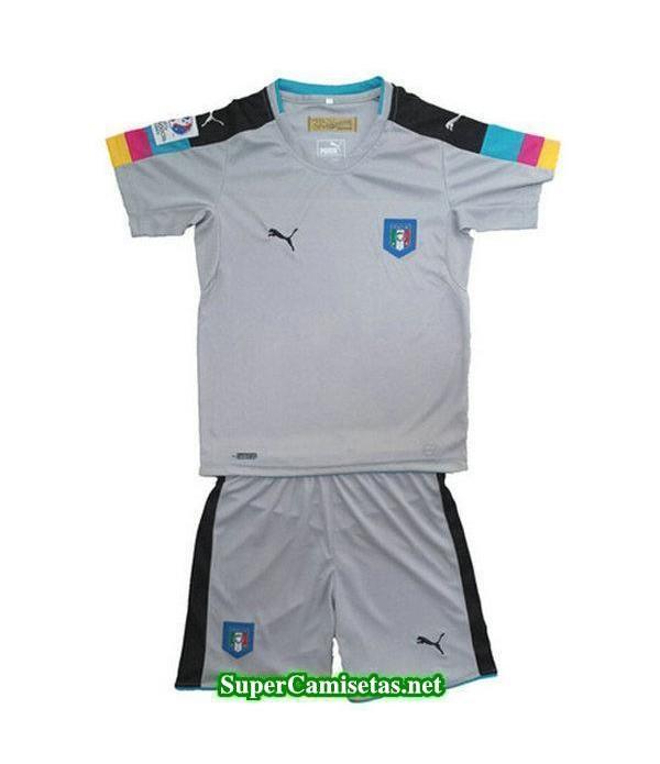Portero Equipacion Camiseta Italia Ninos Eurocopa 2016