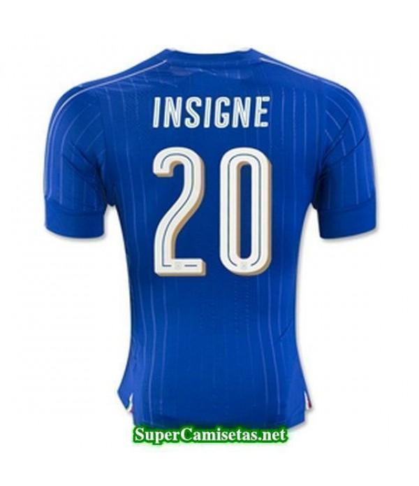 Primera Equipacion Camiseta Italia INSIGNE Eurocopa 2016