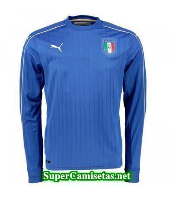 Primera Equipacion Camiseta Italia Manga Larga Eurocopa 2016