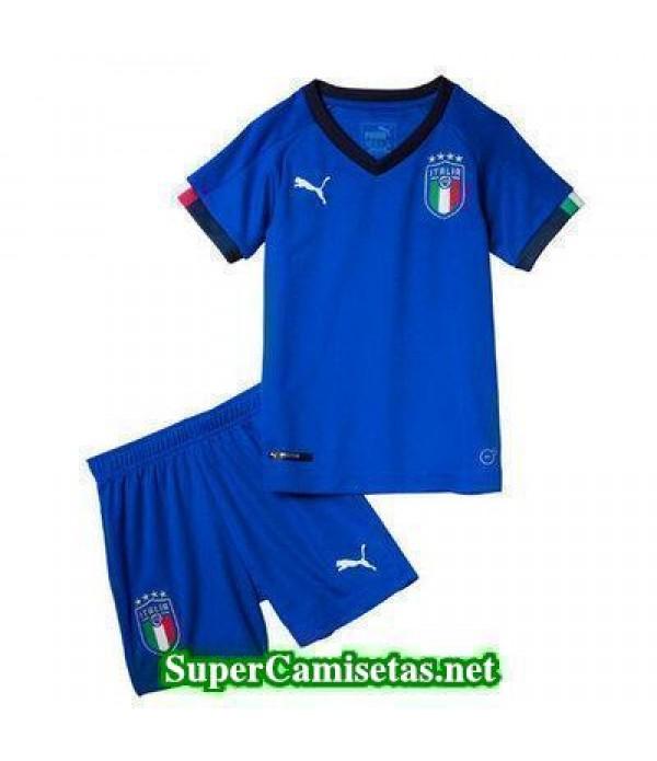 Primera Equipacion Camiseta Italia Ninos Copa Mundial 2018