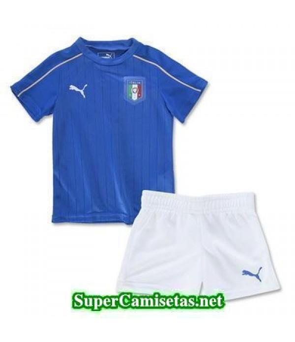 Primera Equipacion Camiseta Italia Ninos Eurocopa 2016