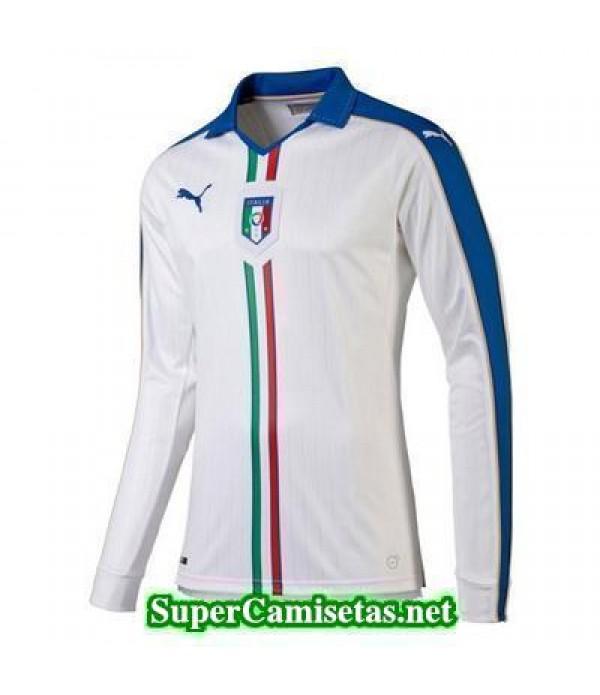 Segunda Equipacion Camiseta Italia Manga Larga Eurocopa 2016