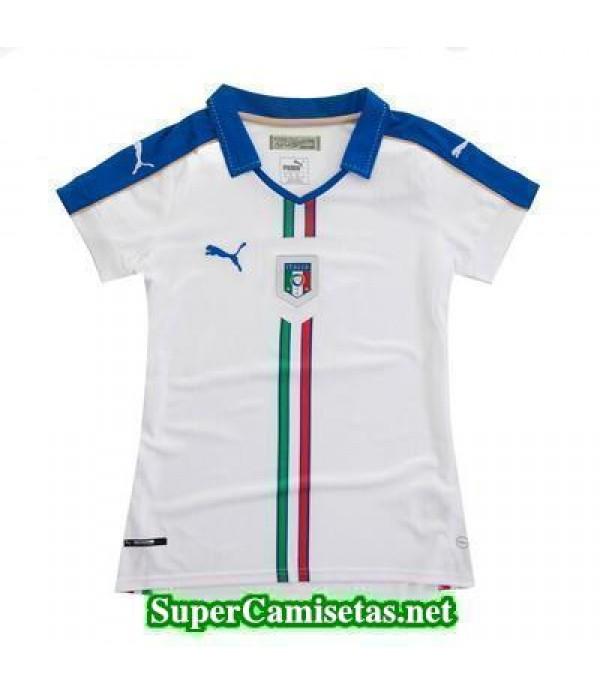 Segunda Equipacion Camiseta Italia Mujer Eurocopa 2016