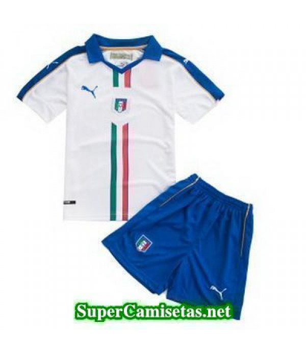 Segunda Equipacion Camiseta Italia Ninos Eurocopa 2016