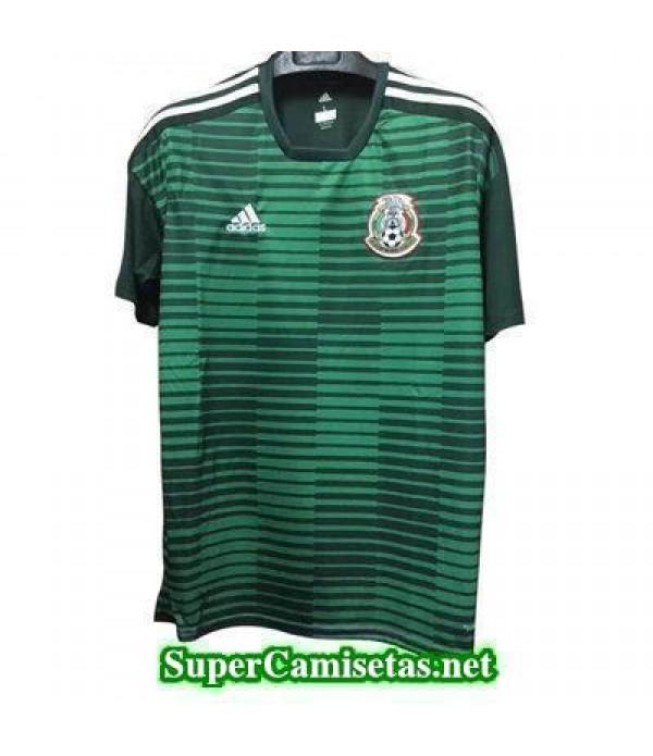 camiseta pre-partido Mexico Verde Copa Mundial 2018