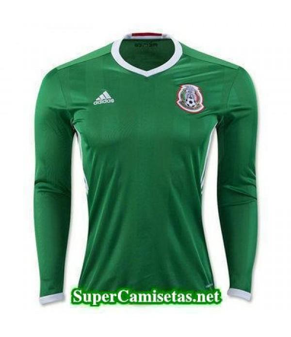 Primera Equipacion Camiseta Mexico Manga Larga Copa America 2016