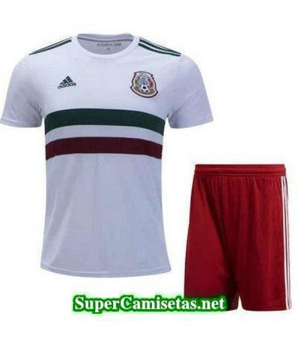 Segunda Equipacion Camiseta Mexico Ninos Copa Mund...
