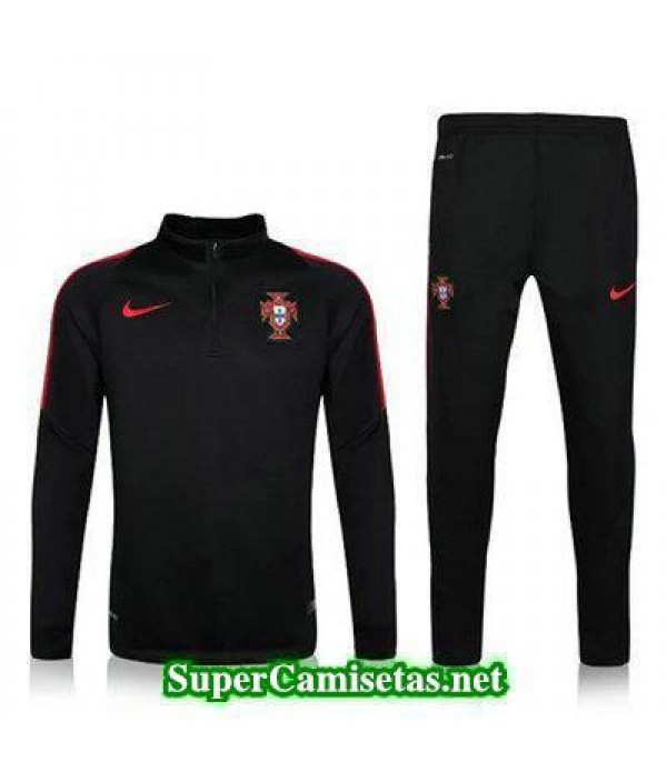 camiseta entrenamiento Portugal ML negro 2016