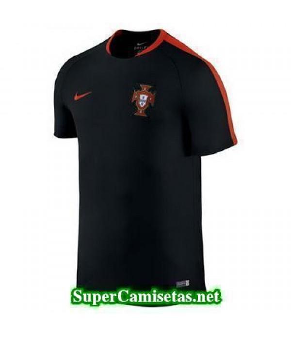 camiseta entrenamiento Portugal Negro 2016 2017