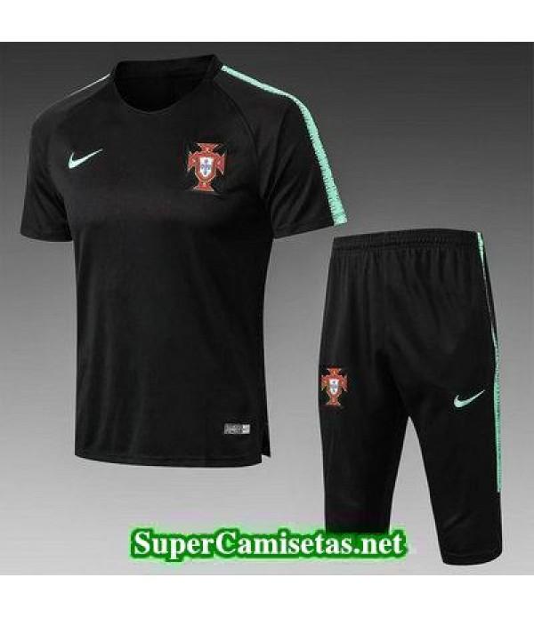 camiseta entrenamiento Portugal Negro 2018 2019