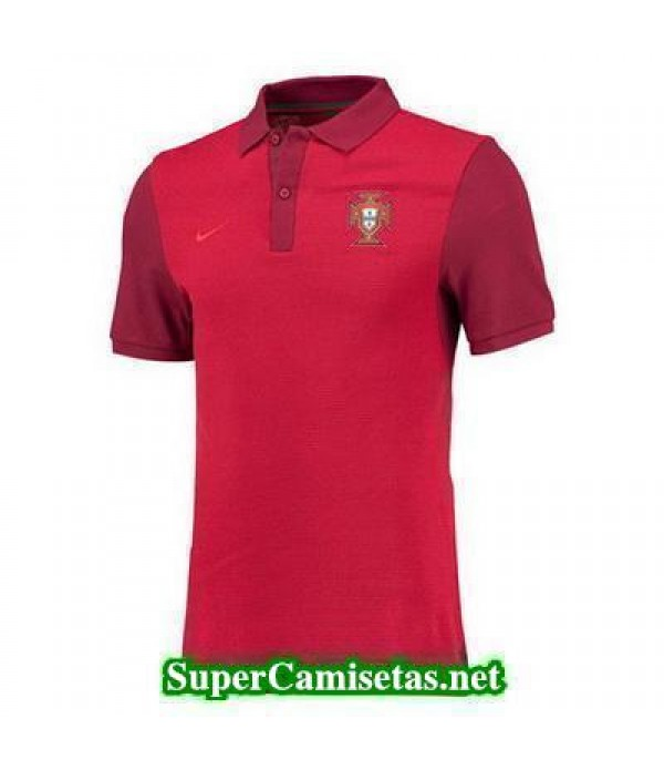 Camiseta polo Portugal Rojo Eurocopa 2016