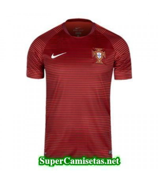 camiseta pre-partido Portugal Rojo 2016 2017