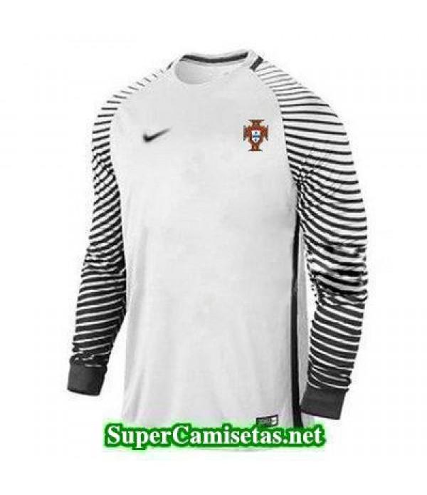 Portero Equipacion Camiseta Portugal ML Blanco 2016 2017