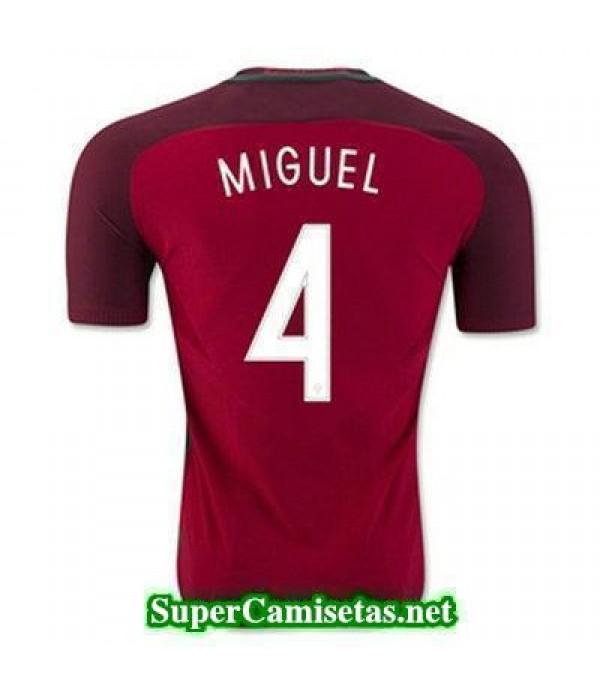 Primera Equipacion Camiseta Portugal MIGUEL Eurocopa 2016