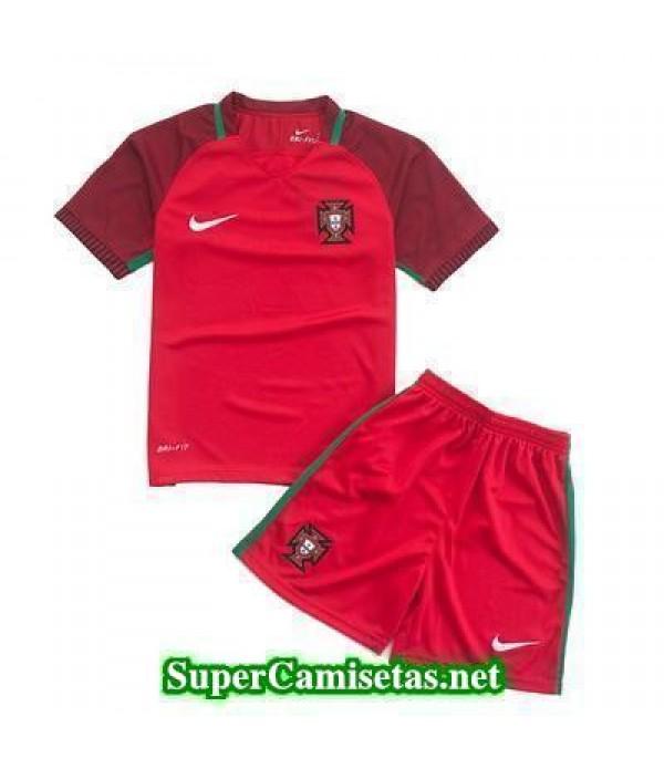 Primera Equipacion Camiseta Portugal Ninos Eurocopa 2016