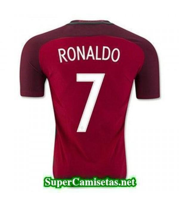 Primera Equipacion Camiseta Portugal RONALDO Eurocopa 2016