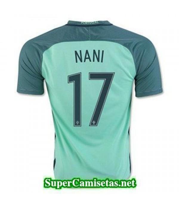 Segunda Equipacion Camiseta Portugal NANI Eurocopa 2016