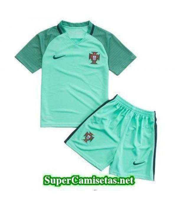 Segunda Equipacion Camiseta Portugal Ninos Eurocopa 2016