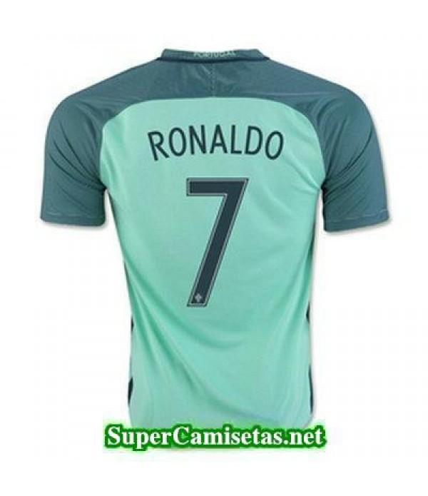 Segunda Equipacion Camiseta Portugal RONALDO Eurocopa 2016
