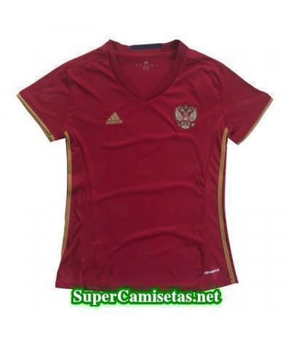 Primera Equipacion Camiseta Rusia Mujer Eurocopa 2016