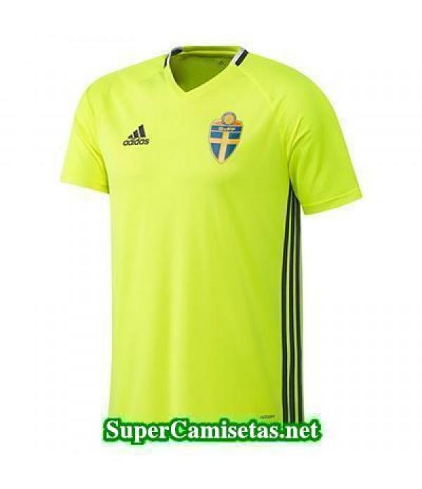 camiseta entrenamiento Suecia Amarillo 2016 2017