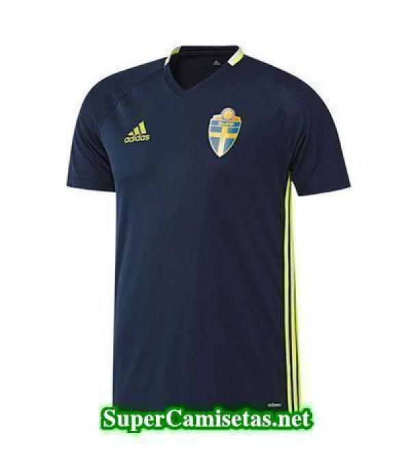 camiseta entrenamiento Suecia Azul 2016 2017