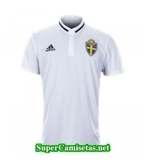 Camiseta polo Suecia blanco 2016 2017