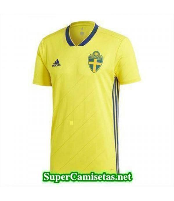 Primera Equipacion Camiseta Suecia Copa Mundial 2018