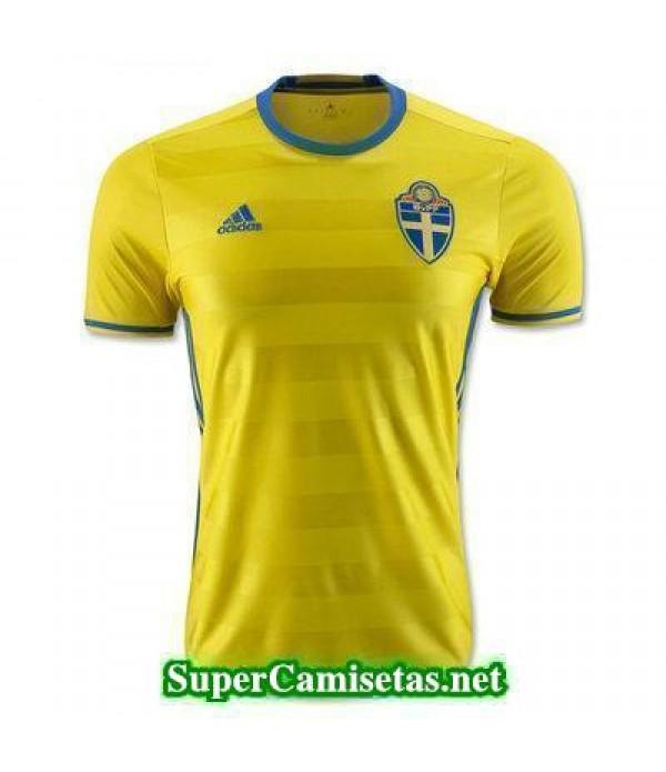 Primera Equipacion Camiseta Suecia Eurocopa 2016