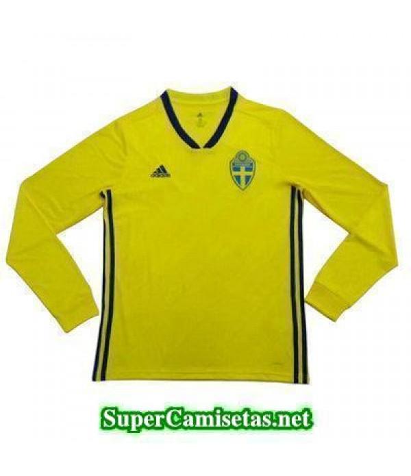 Primera Equipacion Camiseta Suecia ML Copa Mundial 2018