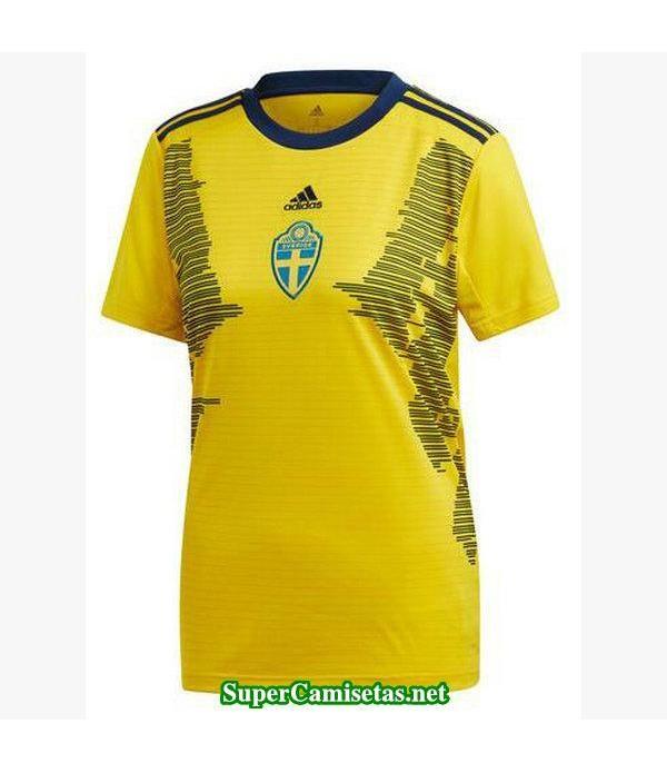 Primera Equipacion Camiseta Suecia Mujer Copa Mundial 2019
