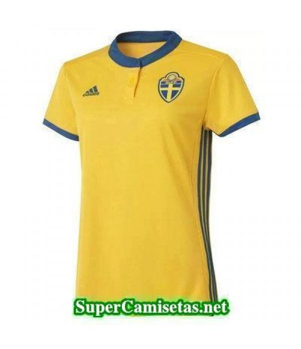 Primera Equipacion Camiseta Suecia Mujer Eurocopa 2017