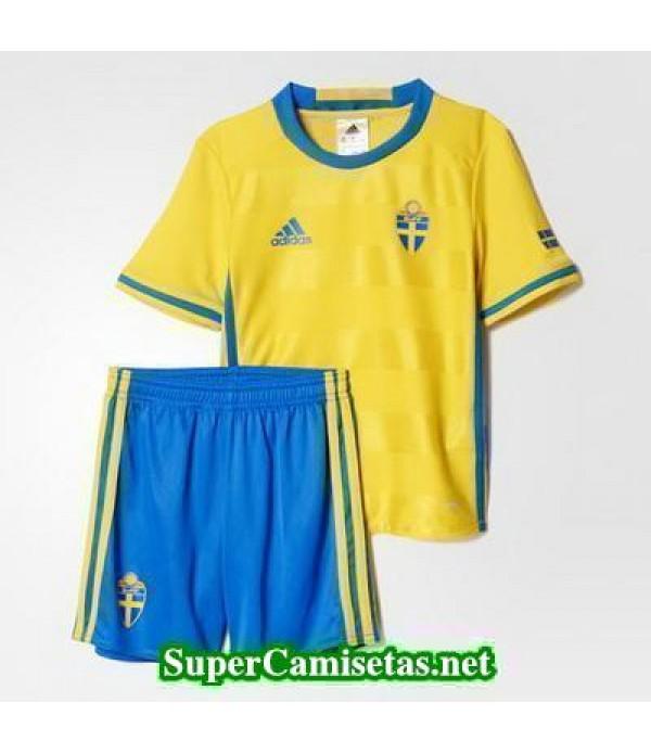 Primera Equipacion Camiseta Suecia Ninos Eurocopa 2016