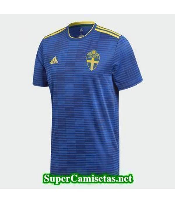 Segunda Equipacion Camiseta Suecia Copa Mundial 20...