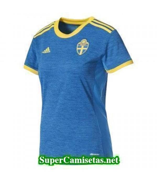 Segunda Equipacion Camiseta Suecia Mujer Eurocopa 2017