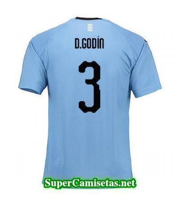 Primera Equipacion Camiseta Uruguay D Godin Copa Mundial 2018