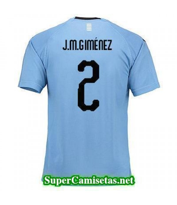 Primera Equipacion Camiseta Uruguay J M gimenez Copa Mundial 2018
