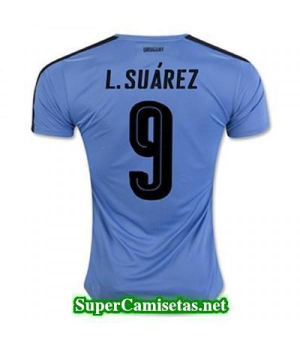 Primera Equipacion Camiseta Uruguay L SUAREZ 2016/17